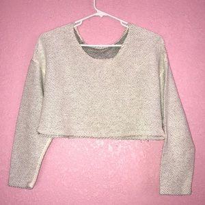 Crop sweater top
